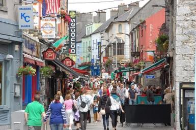 Las calles de la ciudad de Galway