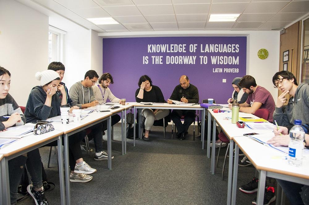 clases en un ambiente internacional