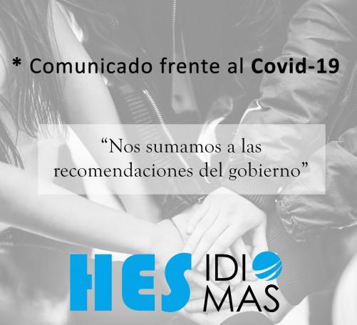 Comunicado Coronavirus Hes IDIOMAS